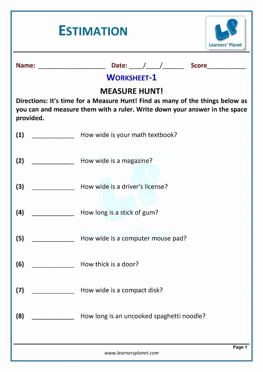 Estimation Worksheets for 3rd Grade Fresh 3rd Grade Rounding and Estimation Worksheets