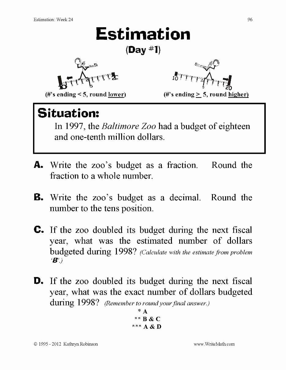 Estimation Worksheets for 3rd Grade Inspirational Just Turn & Estimation & Rounding 3rd 4th 5th Grade Digital