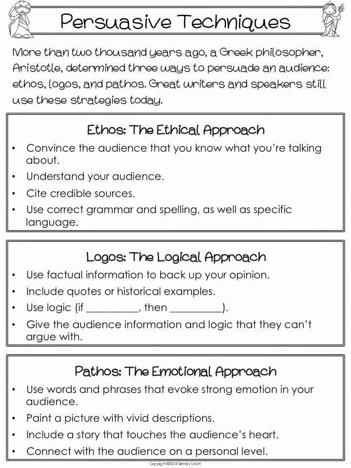 Ethos Pathos Logos Worksheet Answers Kids Ethos Pathos Logos Worksheet Answers Writing Part 2 An