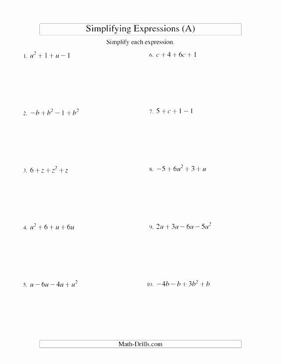 Evaluating Expressions Worksheet 6th Grade Kids Coloring Pages 6th Grade Algebraic Expressions Worksheets