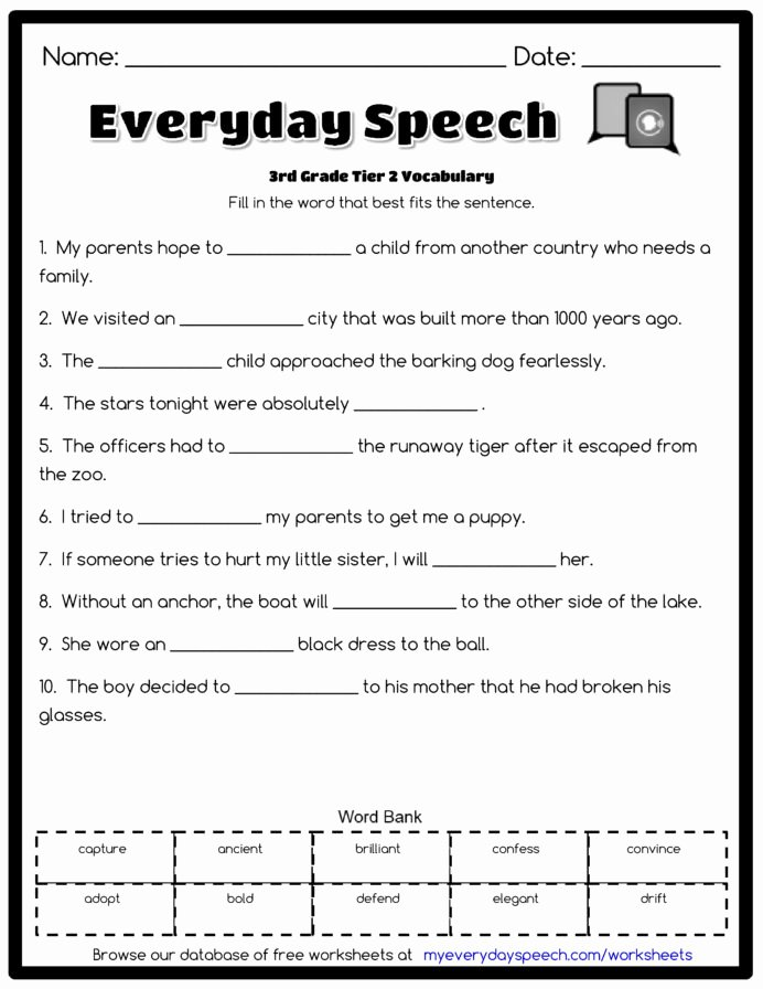 Everyday Math 4th Grade Worksheets New 3rd Grade Vocabulary Worksheets for Third Mathematical