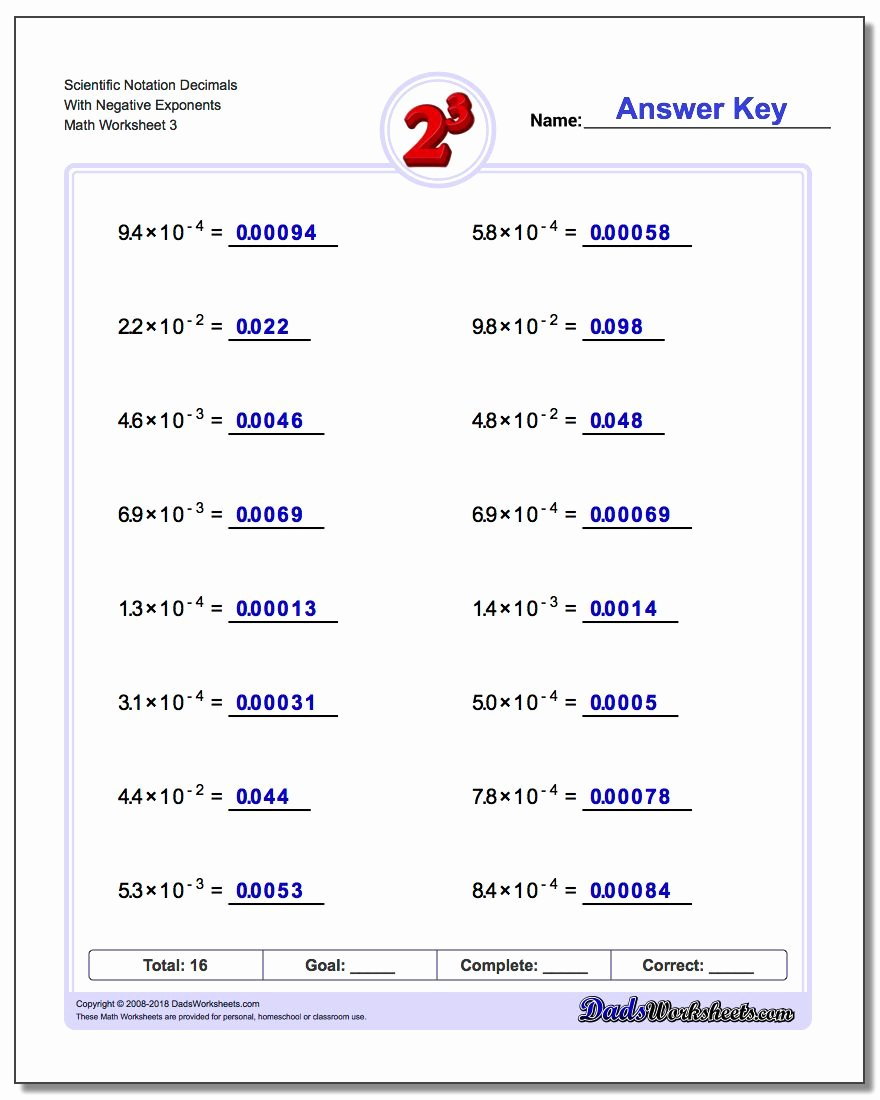 Expanded form with Exponents Worksheet Kids Powers Of Ten and Scientific Notation