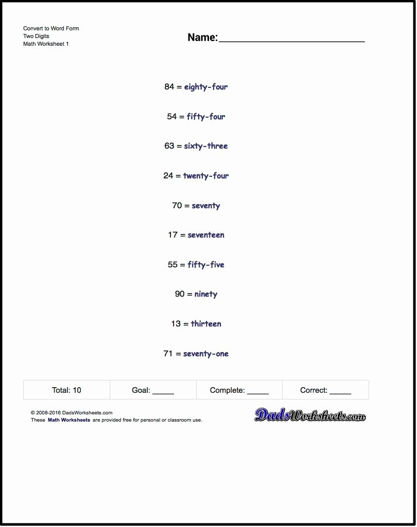 Expanded form with Exponents Worksheet Kids Standard Expanded and Word form Worksheet Standard