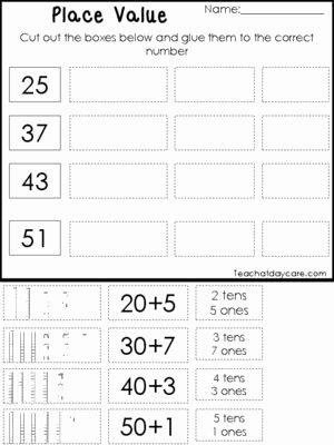 Expanded form Worksheets 1st Grade Kids 10 Place Value Worksheets Base 10 Tens and Es Expanded