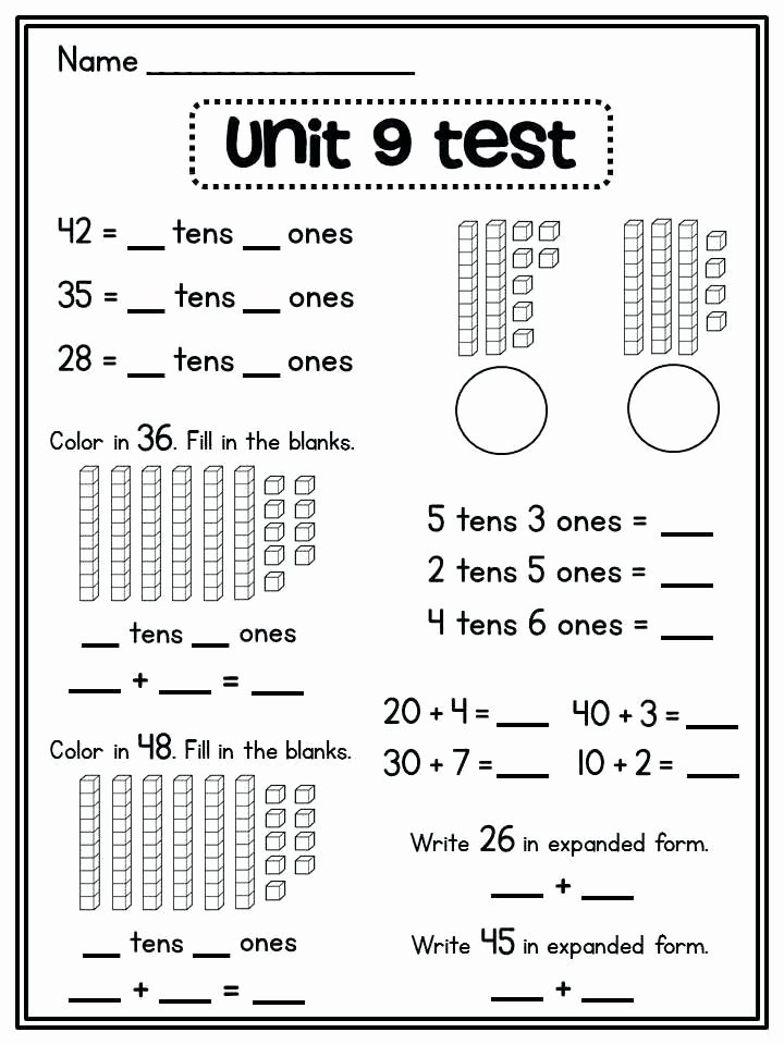 Expanded form Worksheets 1st Grade New 21 Place Value Worksheets Grade 2 Place Value Expanded form