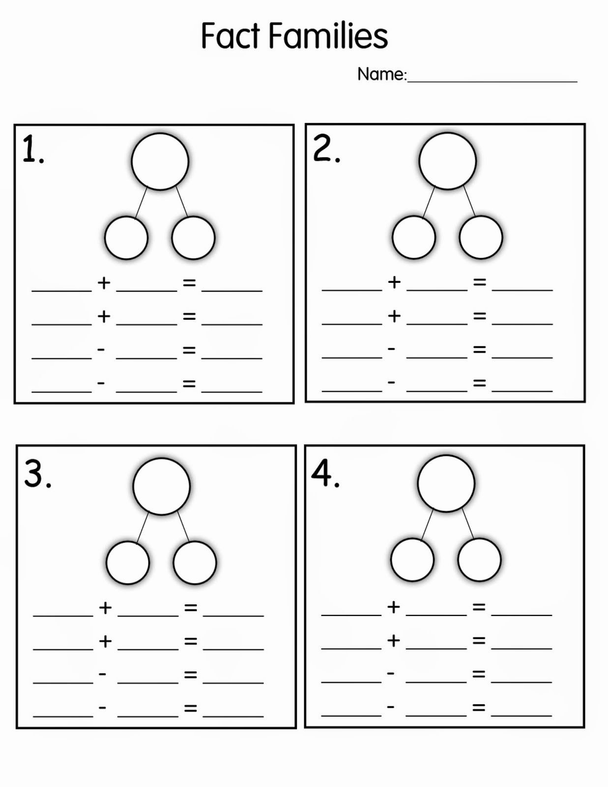 Fact Family Worksheets 1st Grade Fresh Number Family Worksheets for Kids