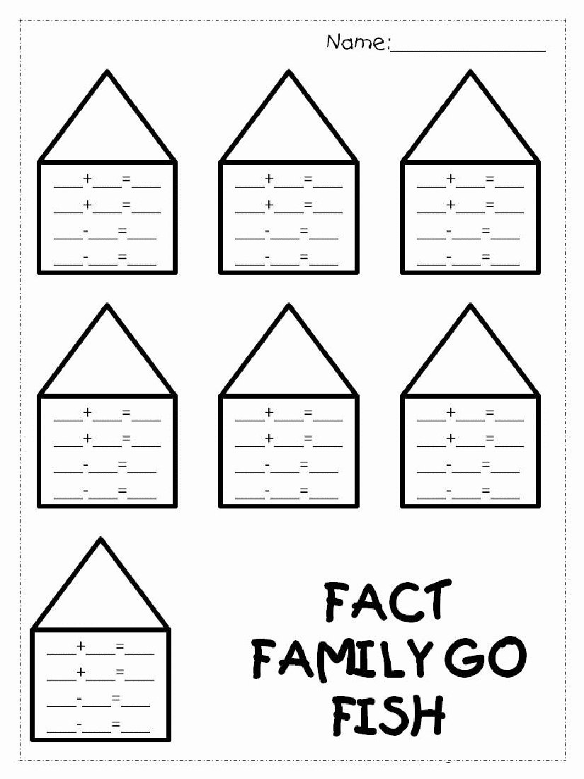 Fact Family Worksheets 1st Grade Inspirational Fact Family Worksheets 1st Grade for Easy Math