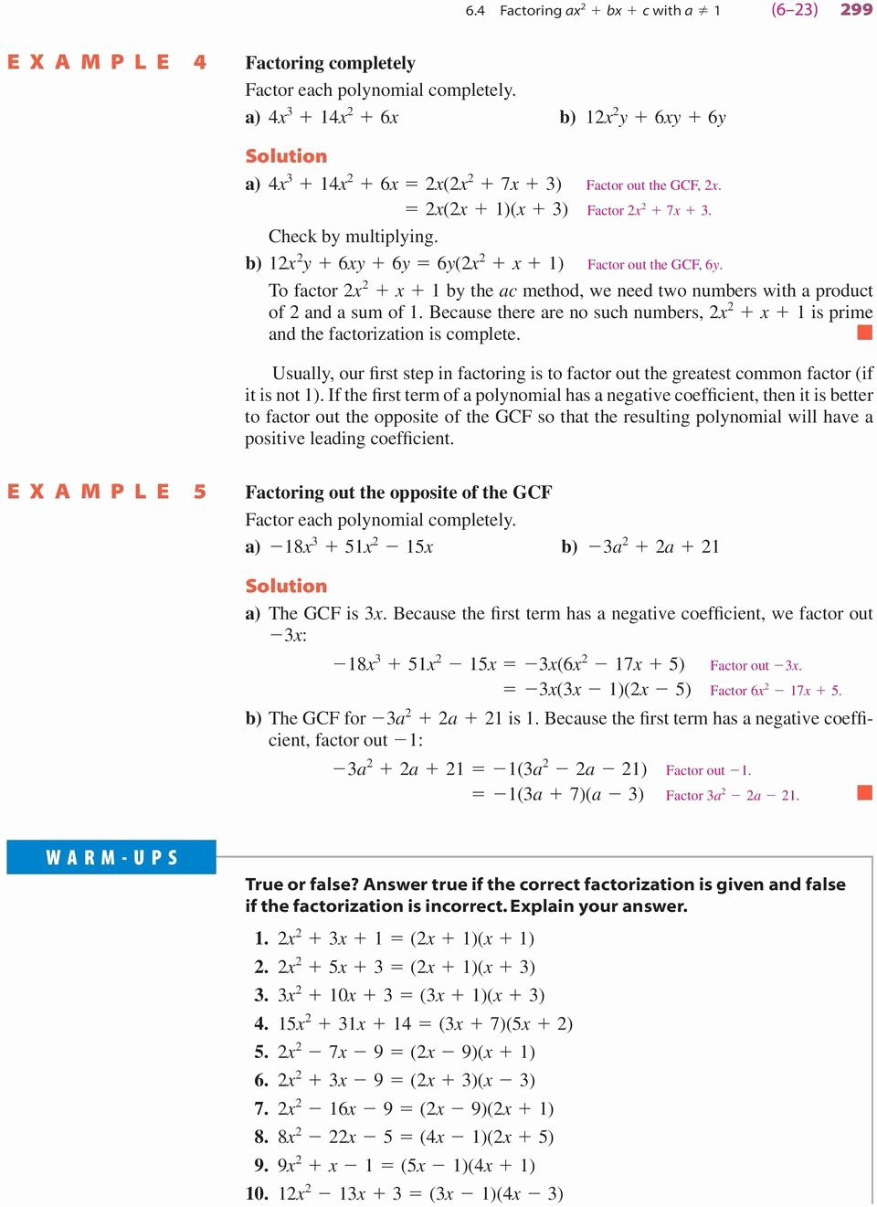 Factoring Ax2 Bx C Worksheet top Lesson 21 2 solving Equations by Factoring Ax2 Bx C Answers