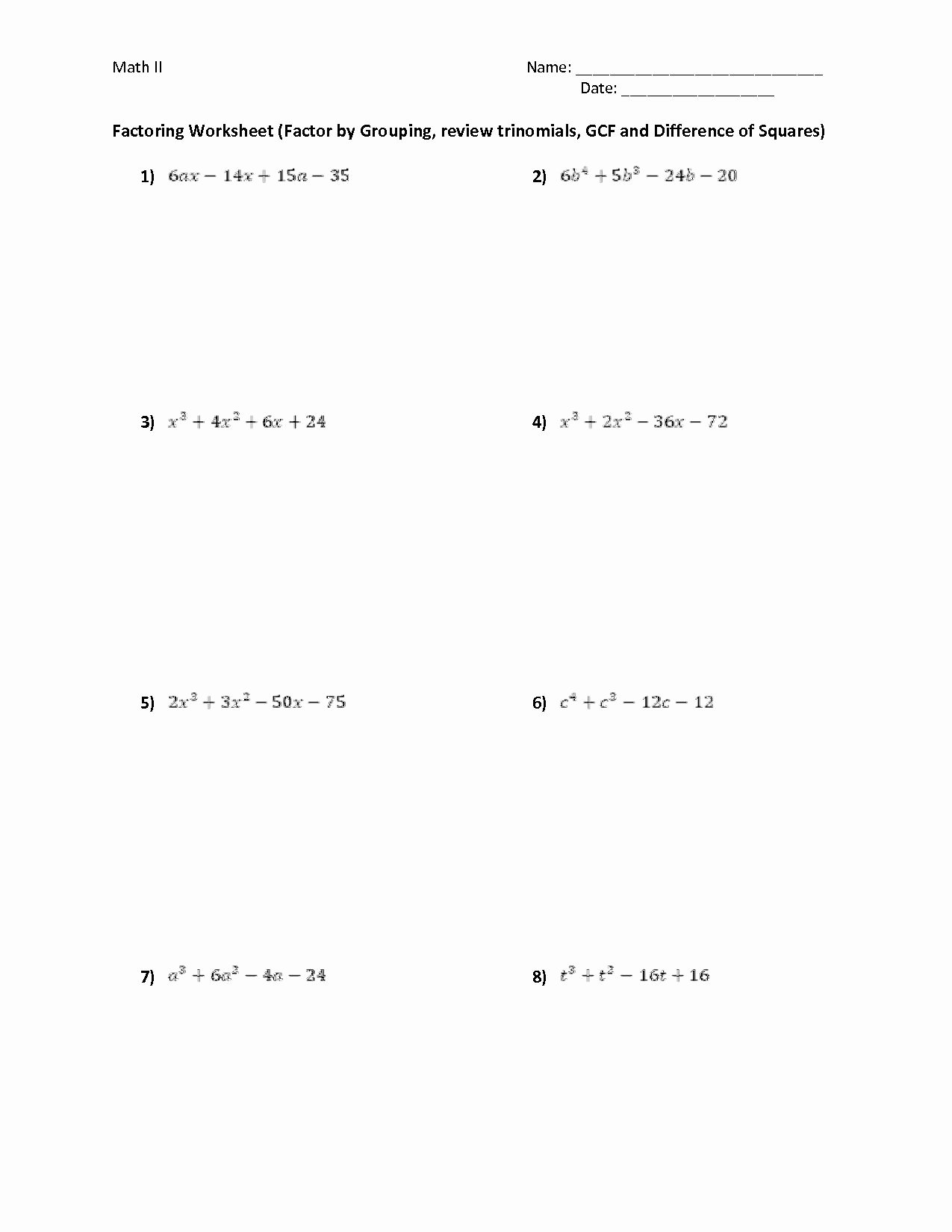 Factoring by Grouping Worksheet Answers Inspirational Factoring by Grouping Worksheet Answers Lovely 13 Best