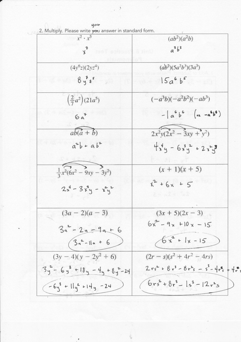 Factoring Polynomials by Grouping Worksheet Free Yesterday S Work Units 7 & 8 Have A Problem Use Math to