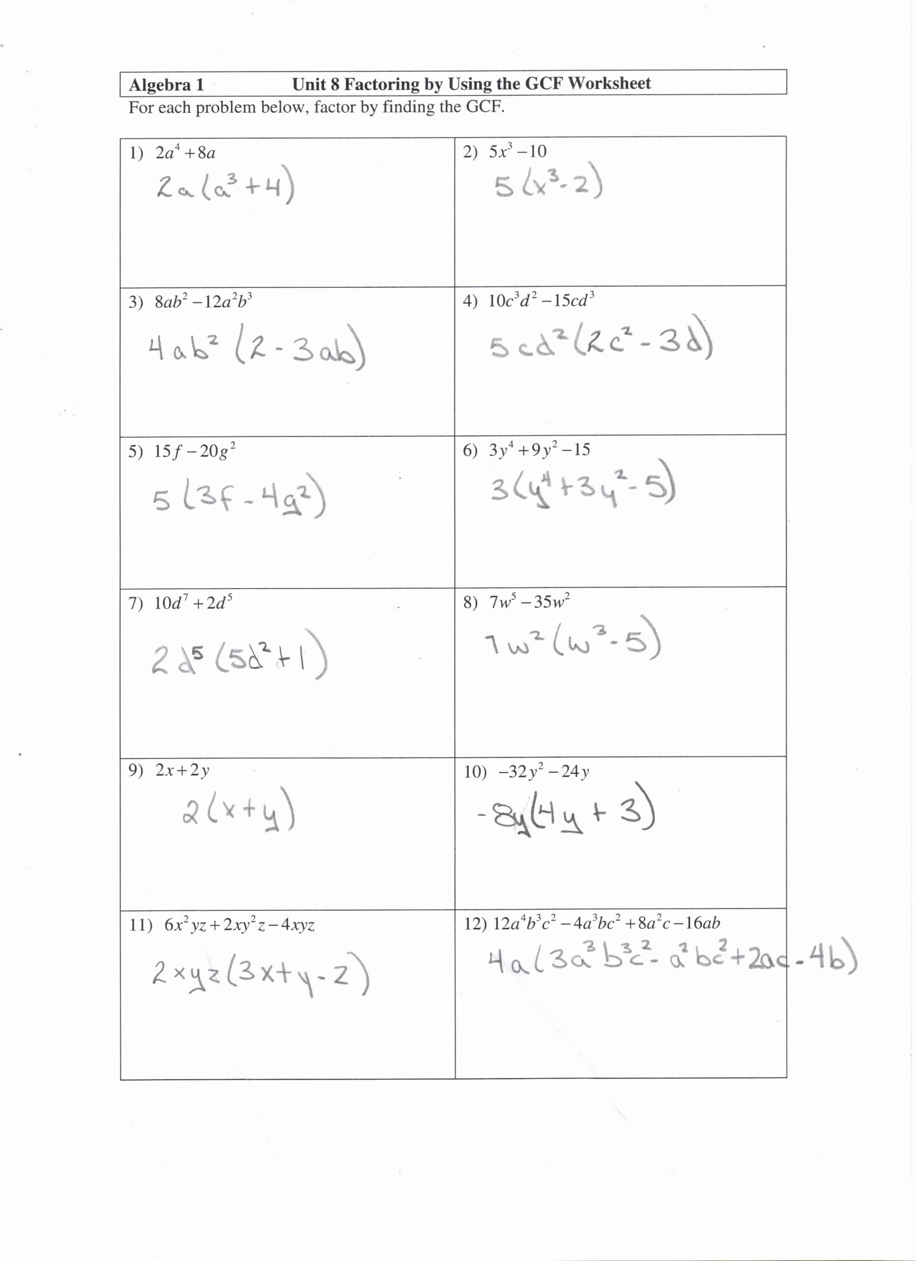 Factoring Polynomials by Grouping Worksheet Lovely Factoring by Grouping Fun Worksheet