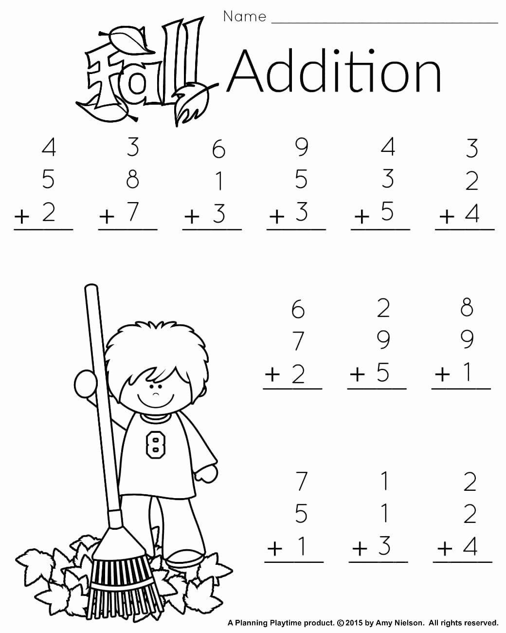 Fall Worksheets for First Grade Lovely 1st Grade Math and Literacy Worksheets with Freebie Planning