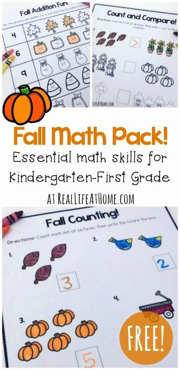 Fall Worksheets for First Grade Lovely Fun Math Printables Fall Worksheets for First Grade and