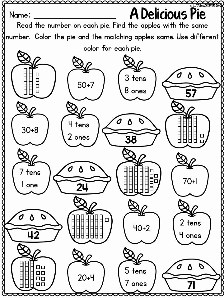 Fall Worksheets for First Grade Printable Fall Activities for First Grade Math Worksheets and Literacy