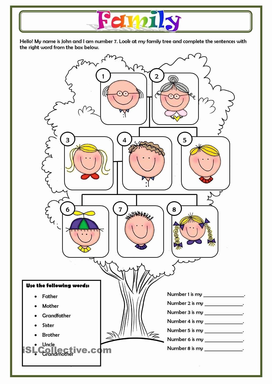 Family Tree Worksheets for Kids Fresh Family