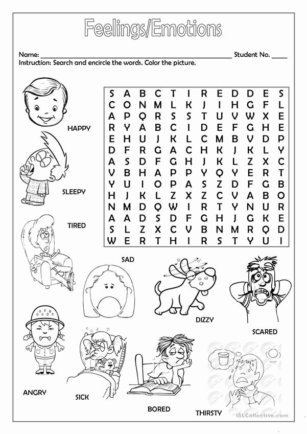 Feelings and Emotions Worksheets Printable Best Of Feelings and Emotions Worksheets Printable Feelings Faces