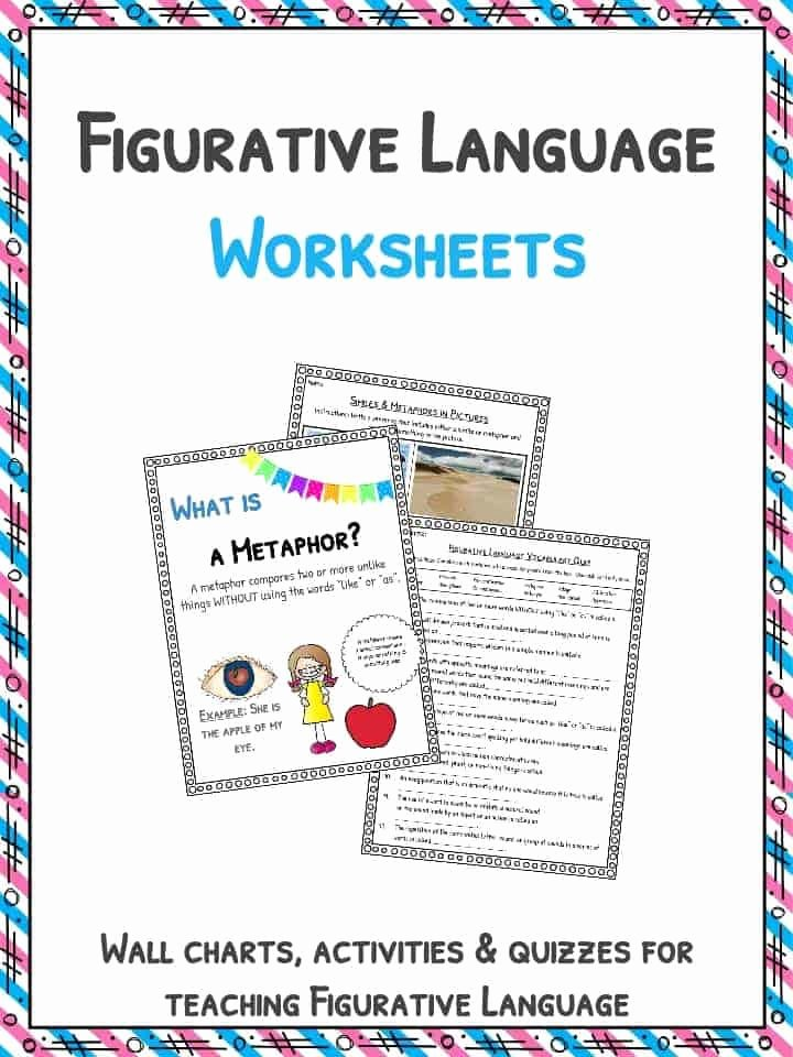 Figurative Language Worksheet 5th Grade top Figurative Language Worksheets