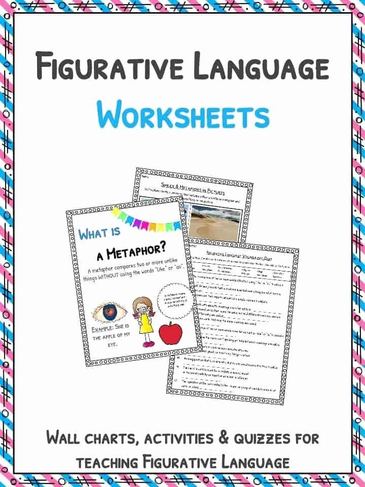 Figurative Language Worksheet Middle School New Figurative Language Worksheets