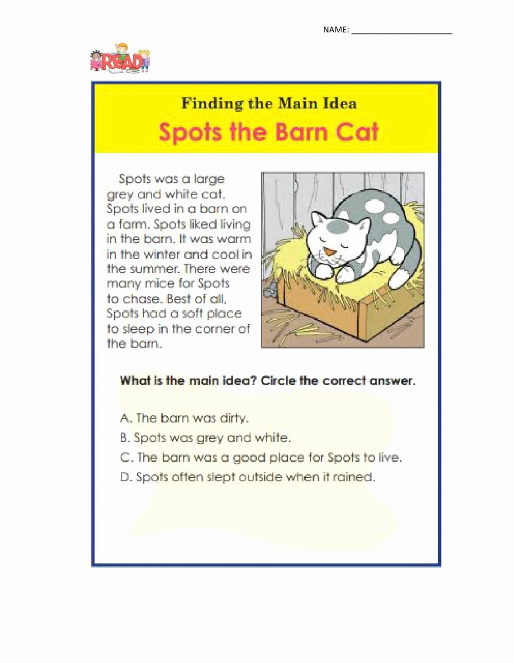 Finding the Main Idea Worksheet Best Of Main Idea Interactive Worksheet