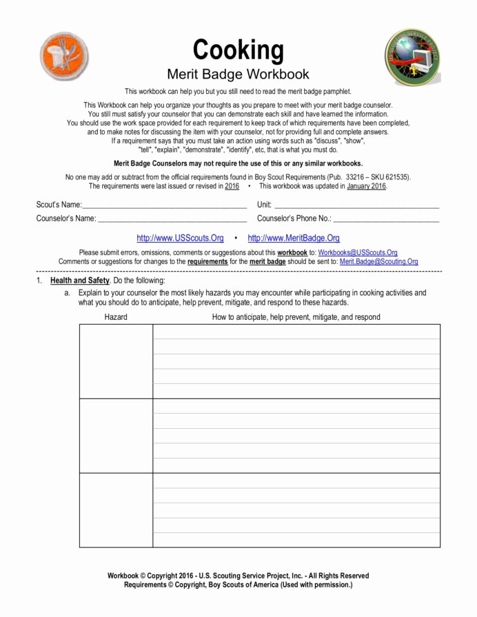 Fire Safety Merit Badge Worksheet Inspirational Cooking Meritbadge Text Version Anyflip Cub Scout Merit