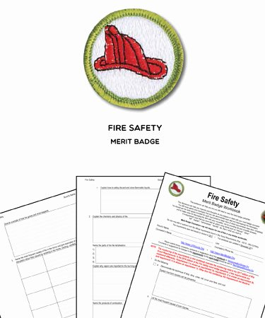 Fire Safety Merit Badge Worksheet top Fire Safety Merit Badge Worksheet & Requirements