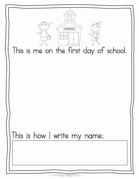First Day Of Kindergarten Worksheets Best Of Free First Day Portraits & Last Day too