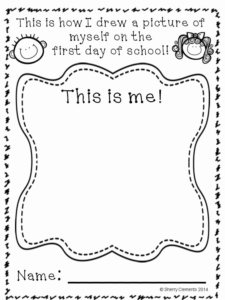 First Day Of Kindergarten Worksheets New First Day Kindergarten Worksheets In 2020