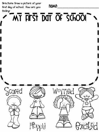 First Day Of Kindergarten Worksheets New Pin On First Day School