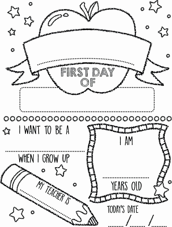 First Day Of Kindergarten Worksheets Printable Printable Preschool Coloring Pages Summerst Day Kindergarten