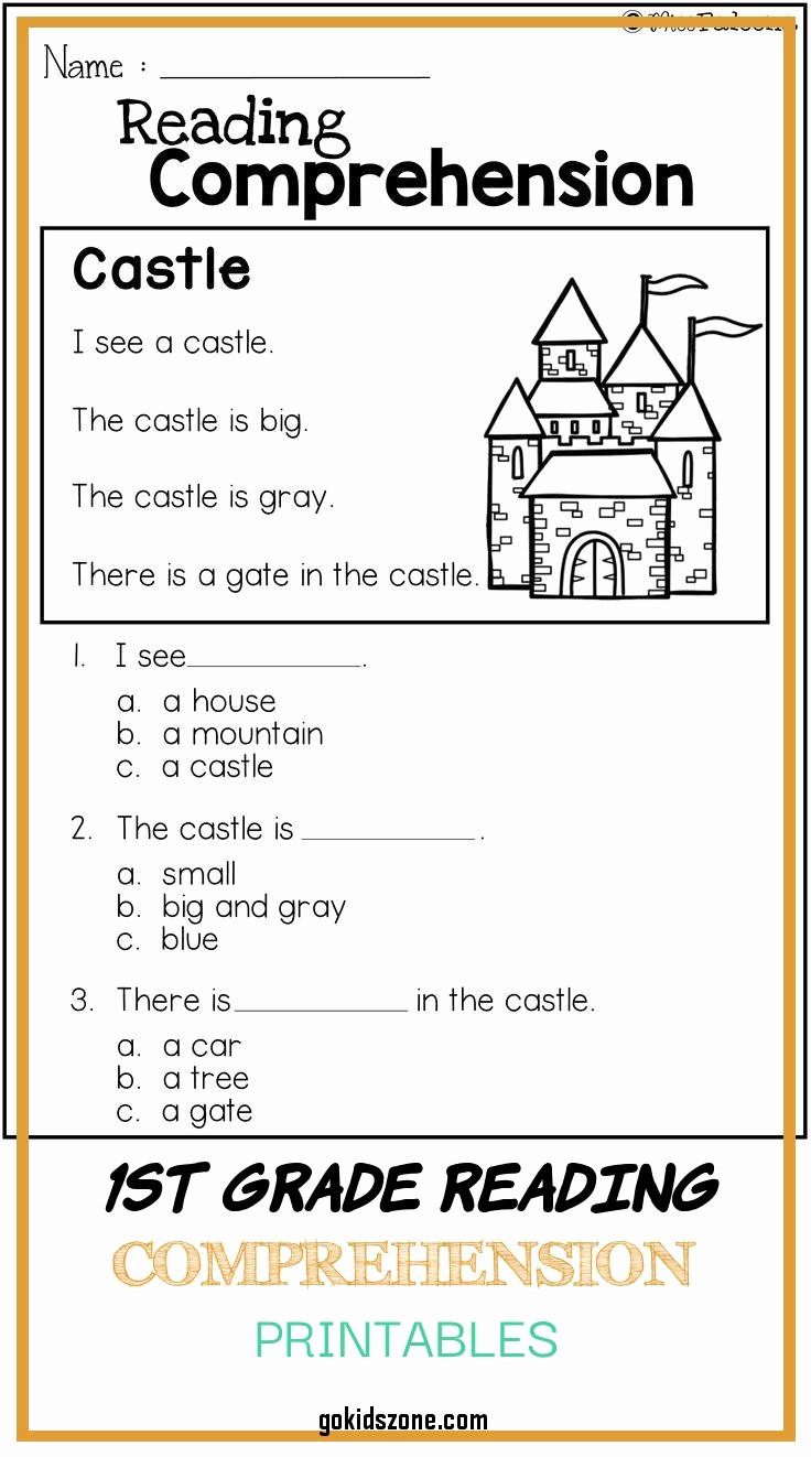 First Grade Reading Comprehension Worksheets New Free First Grade Reading Prehension Worksheets About