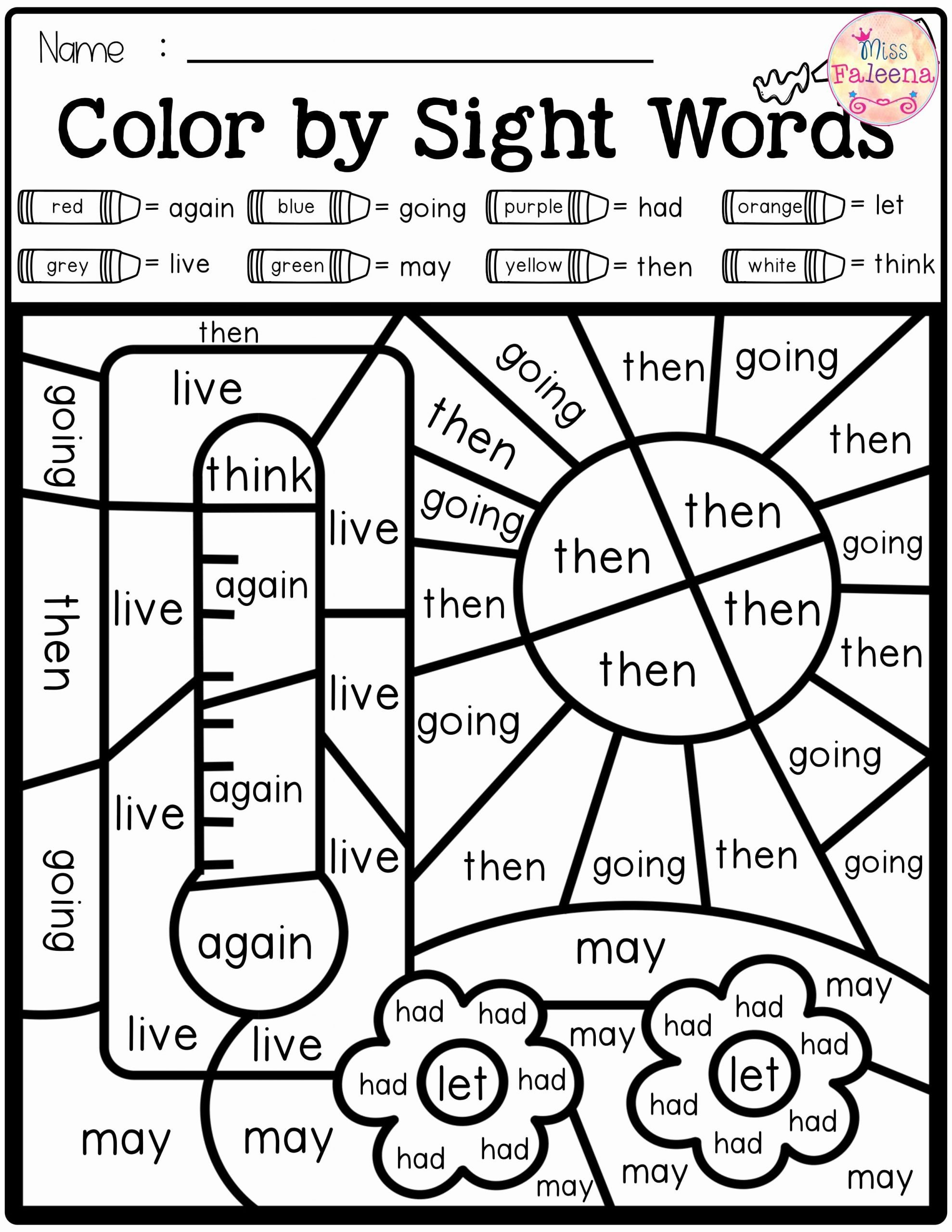 First Grade Sight Words Worksheets Inspirational First Grade Sight Words Worksheets Free