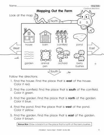First Grade social Studies Worksheets Printable Mapping Out the Farm Lesson Plans the Mailbox