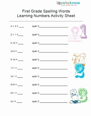 First Grade Spelling Words Worksheets Lovely Worksheet Worksheet Addition Printable Worksheets for