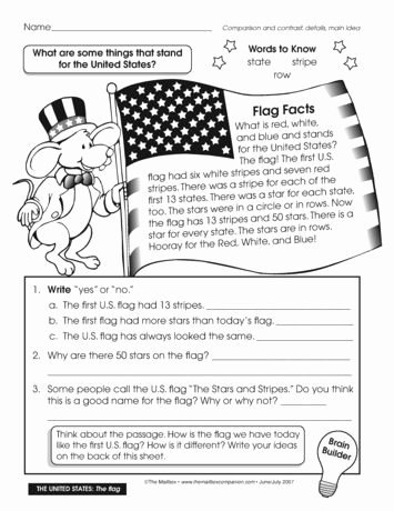 Flag Day Reading Comprehension Worksheets Inspirational A Nonfiction Passage About the American Flag with Follow Up