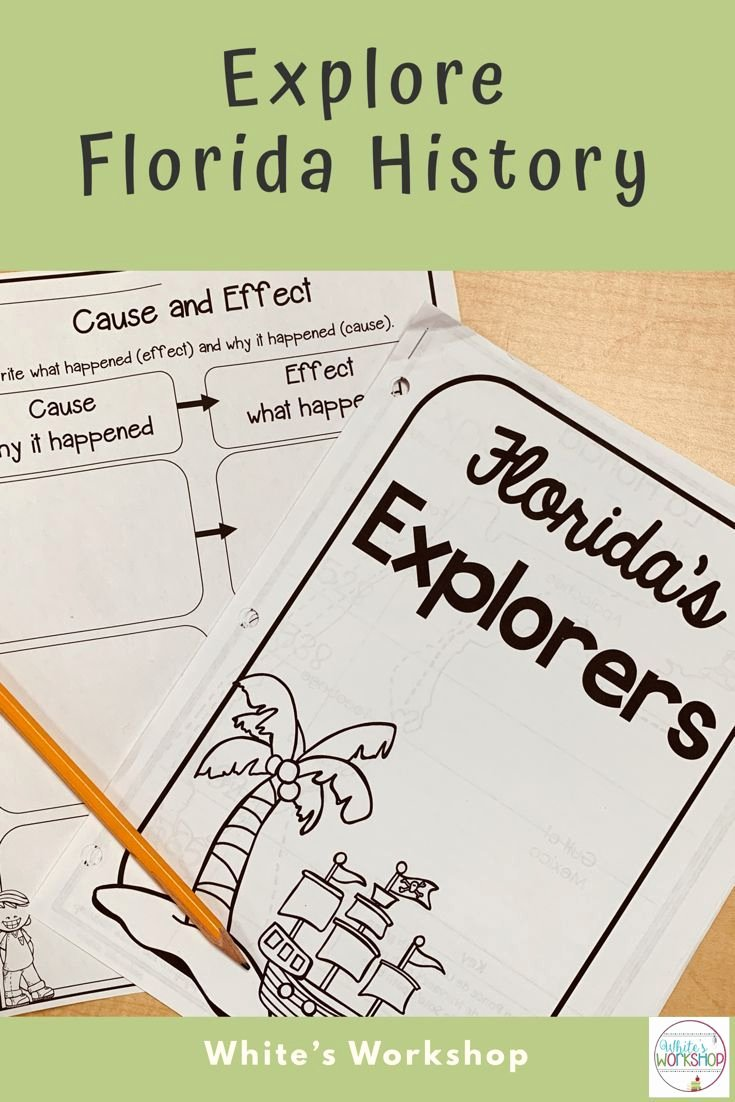 Florida History Worksheets 4th Grade Lovely Florida Explorers