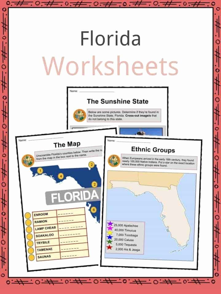 Florida History Worksheets 4th Grade New Florida Facts Worksheets & State Historical Information for
