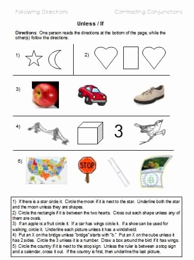 Following 2 Step Directions Worksheets Best Of Following Directions – Worksheets Activities Goals and
