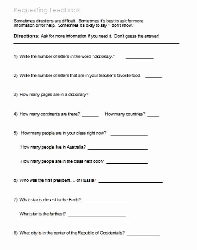 Following Directions Worksheet Middle School Lovely Following Directions – Worksheets Activities Goals and