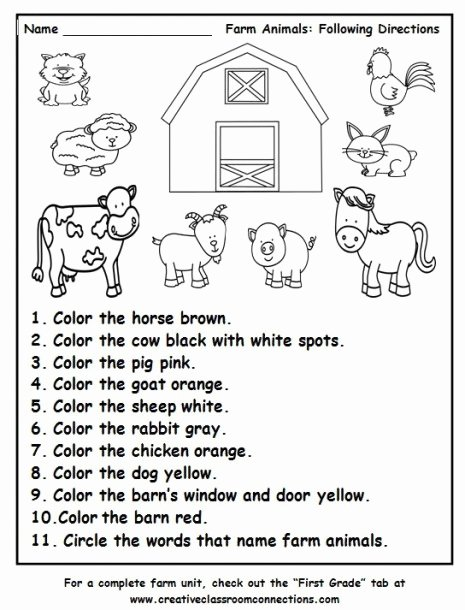 Following Directions Worksheet Third Grade Best Of Following Directions Worksheets for Preschool Grade is Kumon