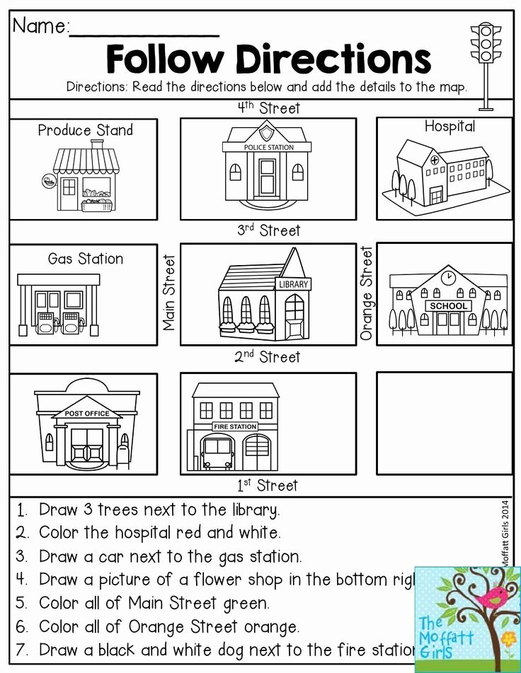 Following Directions Worksheet Third Grade Fresh Follow Directions Read the Directions and Add the Details