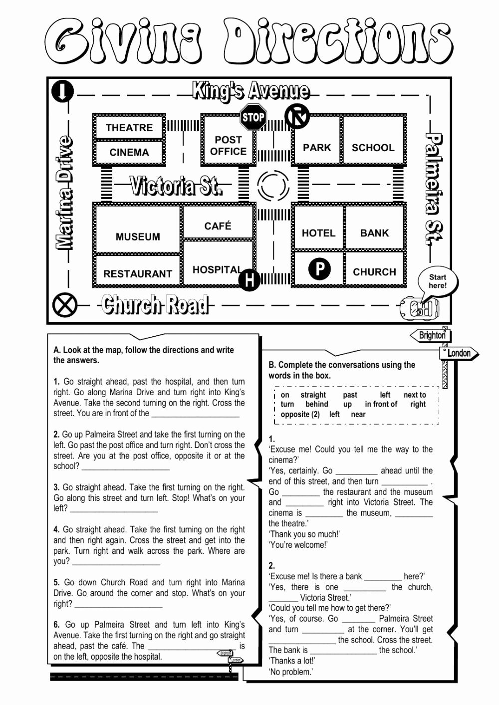 Following Directions Worksheet Third Grade New Following Directions Worksheet Third Grade Giving Directions