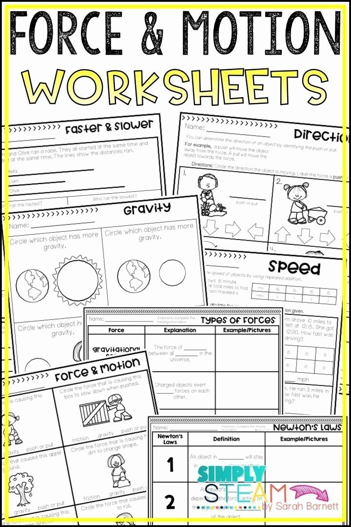Force and Motion Printable Worksheets Free force and Motion Printable Worksheets force and Motion