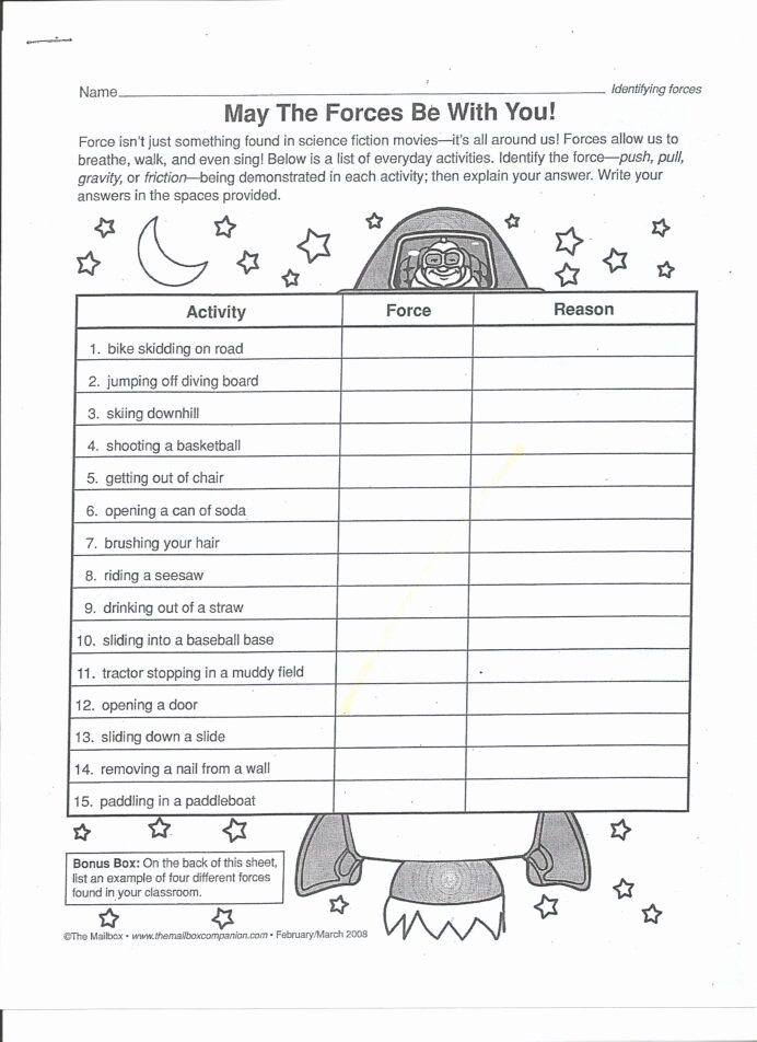 Force and Motion Printable Worksheets New Can Determine the Effects force Lessons Tes Teach 5th