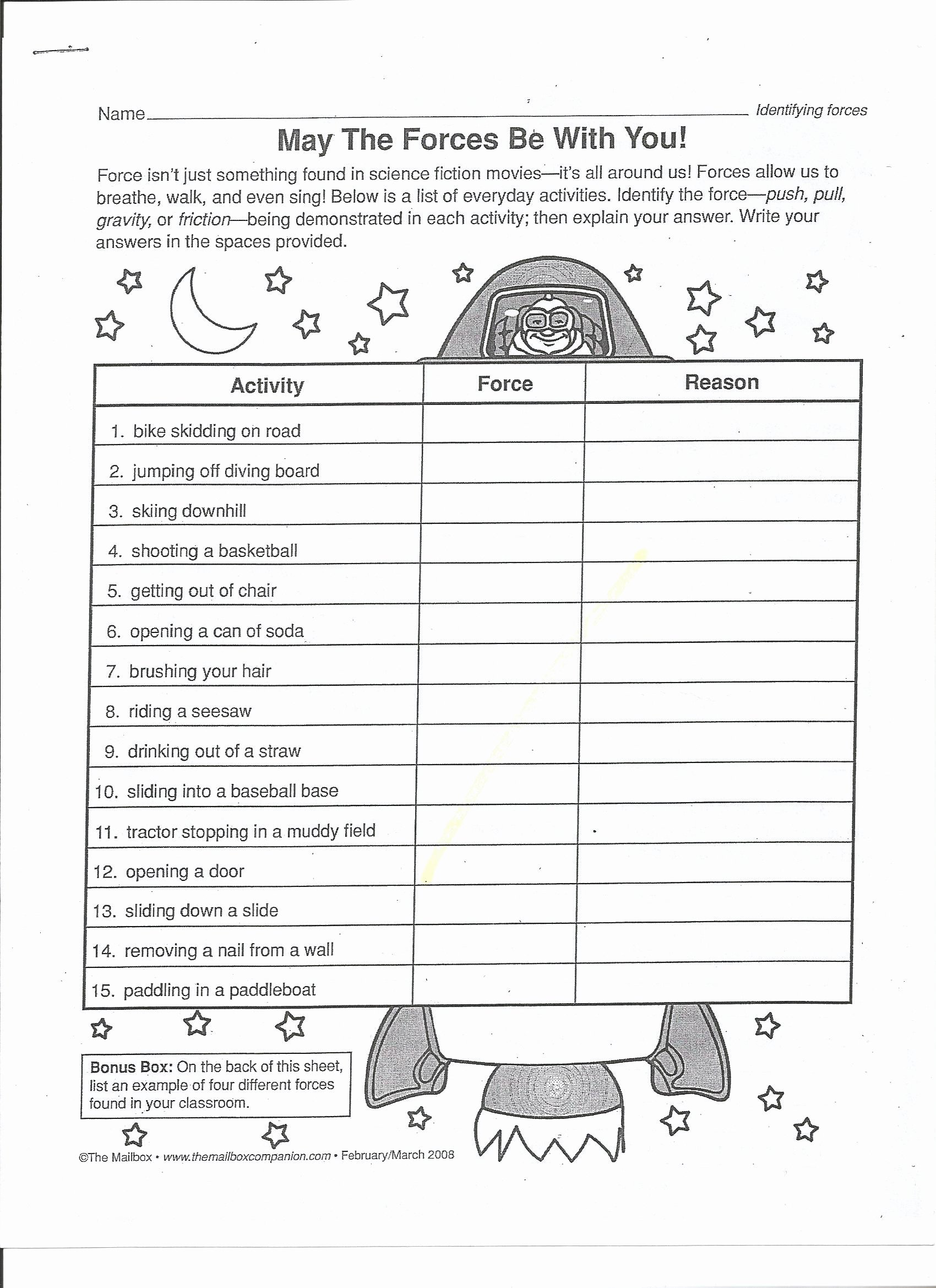 Force and Motion Worksheet Answers New Can Determine the Effects force Lessons Tes Teach Year