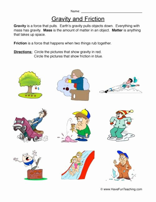 Force Motion and Energy Worksheets Fresh force and Motion Worksheets • Have Fun Teaching
