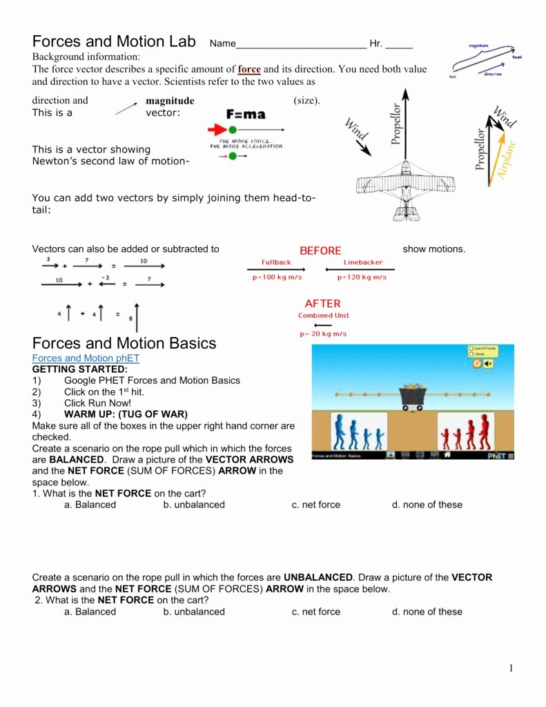 Forces Worksheet 1 Answer Key Best Of forces Worksheet 1 Answer Key Luxury forces Motion and