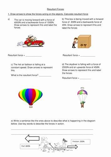 Forces Worksheet 1 Answer Key Inspirational forces Worksheet 1 Answer Key Luxury Resultant force