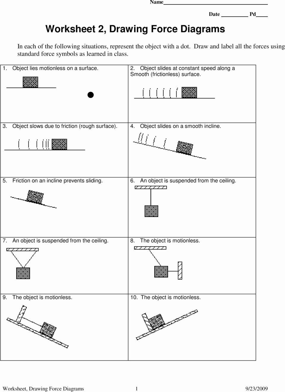 Forces Worksheet 1 Answer Key Lovely Free Particle Model Worksheet 1a force Diagrams Answer Key