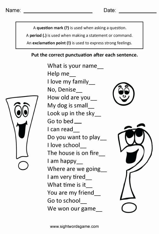 Four Kinds Of Sentences Worksheets New Types Of Sentences