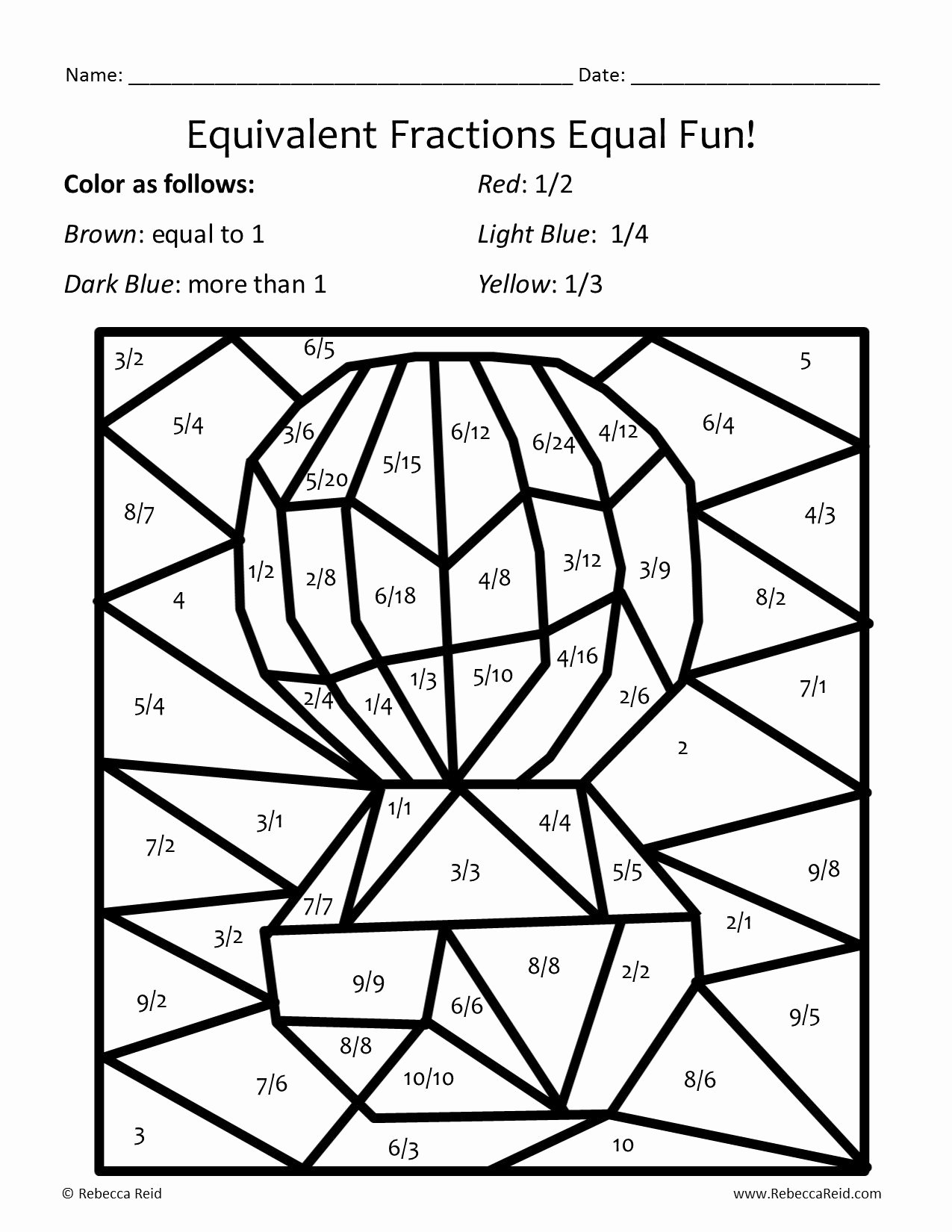 Fraction Coloring Worksheets 5th Grade Ideas Equivalent Fractions Image Incredible Fraction Coloring